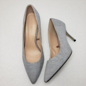 Old Navy Chambray Stripe Closed Toe Pumps Sz 9